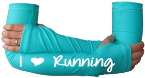 I heart running - arm warmers