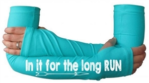 In it for the long run - inspirational running arm warmers