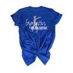 Gymnastics Tee Shirt - Bars. Beam. Vault. Floor. - For Teen Gymnasts