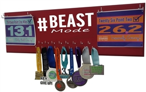 Beast mode - medal hanger & bib display
