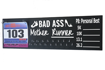 chalk medal hanger distance bad ass mother runner