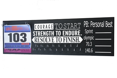 chalk running triathlon medal hanger distance courage start
