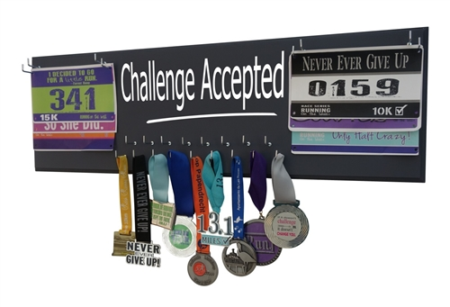 Medal Display  Running Gift  Challenge Accepted