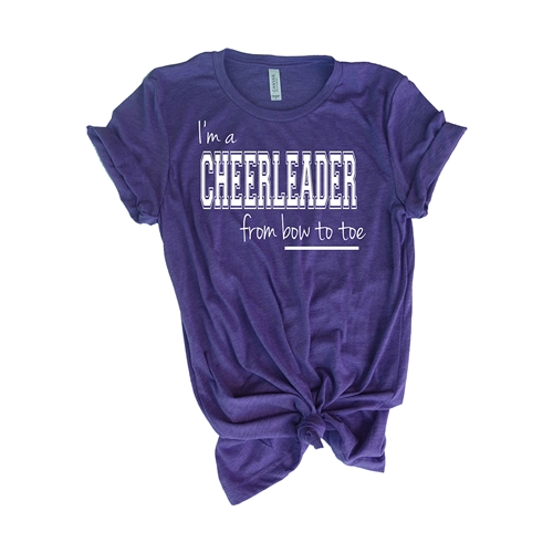 Cheer Tee Shirt - From Bow To Toe - For Teen Cheerleaders