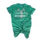 Cheer Tee Shirt - JUMP. TUCK. STUNT. TUMBLE. - For Teen Cheerleaders