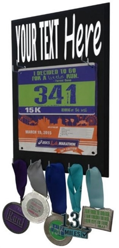 custom race bib display & medals holder