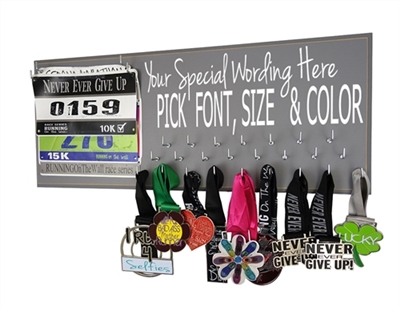 Custom medal holder & bib display