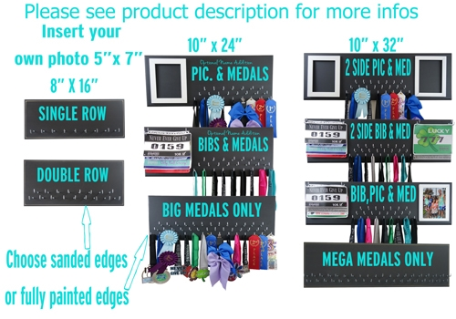 create your own medal and bib display