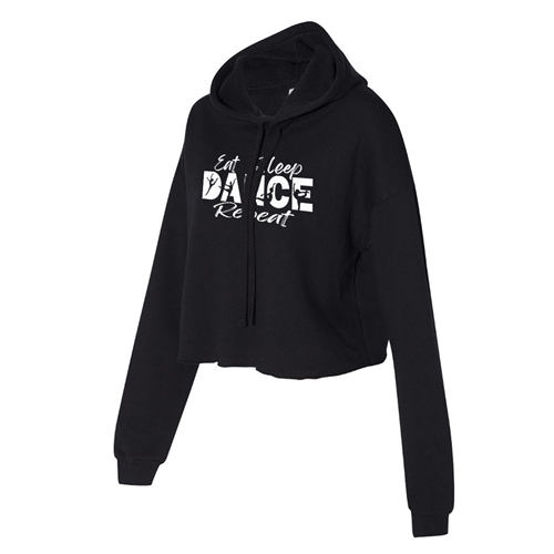 Dancing Cropped Hoodie for Athletic Teen Girl in Charcoal, Black, or Army Green
