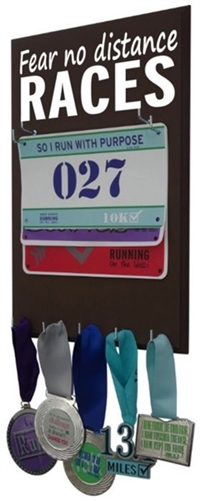 Race bibs rack fear no distance