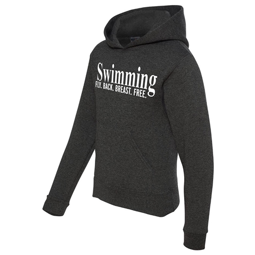 Swimming Hoodie - Fly. Back. Breast. Free. - Athletic Sweatshirt for Men & Women