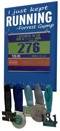 I just kept running - bib display