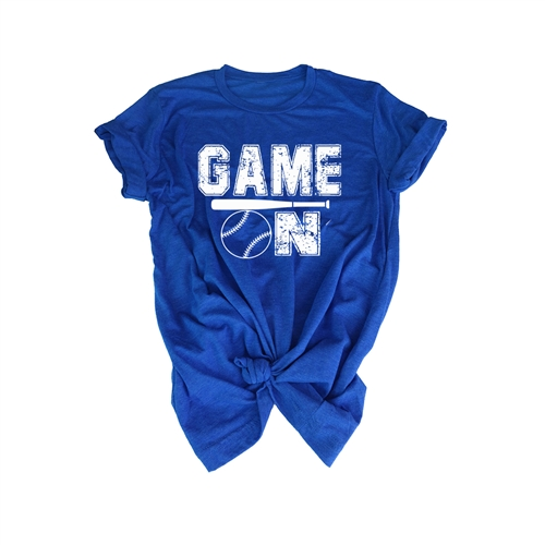 Softball Tee Shirt - GAME ON - For Teen Softball Players