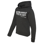 Swimming Hoodie - Goals Should Never Be Easy - Athletic Sweatshirt for Men & Women