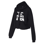 The Time For Heroes is Now Cropped Hoodie for Athletic Teen Girl in Army Green, Charcoal, or Black
