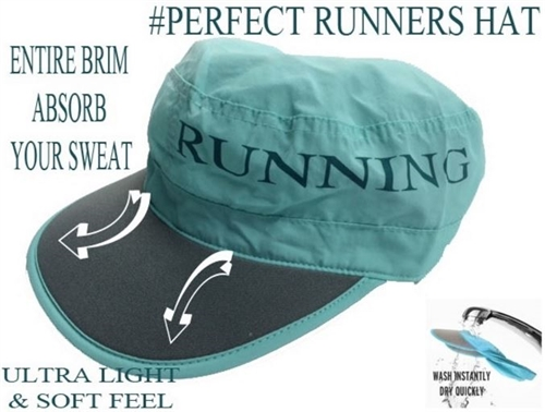 sweat absorption running cap