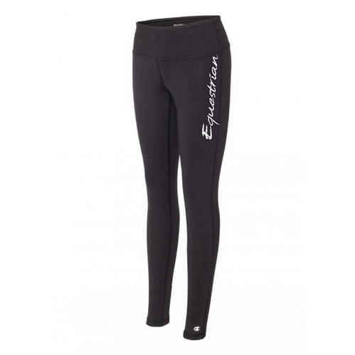 Equestrian legging tights black