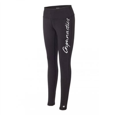 gymnastics legging tights black running