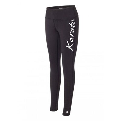 karate legging tights black running