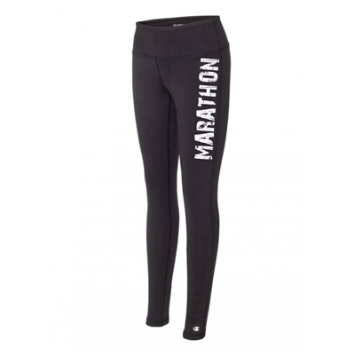 Marathon legging tights black running