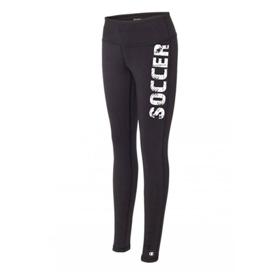 Soccer legging tights black running