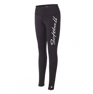 Softball legging tights black running
