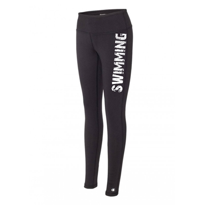 Swimming legging tights black running