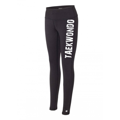 Taekwondo legging tights black running