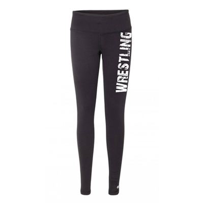 Wrestling legging tights black running