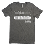 Soccer Tee Shirt - You Can't Put A Limit On Anything The More You Dream The Farther You Get - Michael Phelps Quotes - For Teen Soccer Players