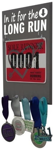 race bibs & medal holder to display your running achievement in style