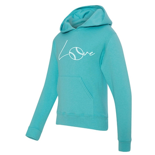 Softball Hoodie - Love - Athletic Sweatshirt for Teen Girls