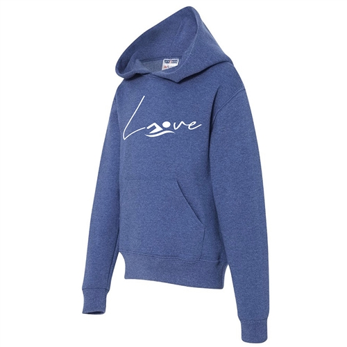 Swimming Hoodie - Love - Athletic Sweatshirt for Teen Girls