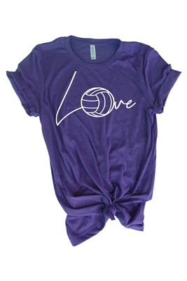 Love Volleyball Tee for Girls