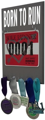 Born to run and show your race bibs display