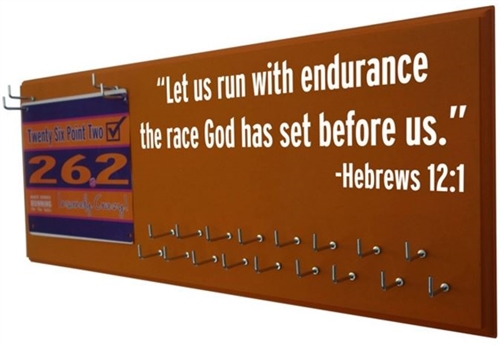 INSPIRATIONAL hebrews 12:1 for medals display