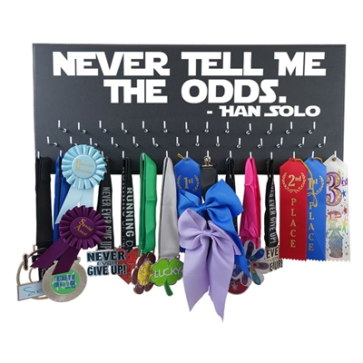 Never Tell Me The Odds - Han Solo -  medal display holder