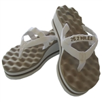 26.2 Miles Post-Run Recovery Sandals with High Arch and Reflexology Massaging Flip-Flops with High Arch and Reflexology Massaging Flip-Flops. walk recovery sandals with arch support and acupressure point massaging flip-flops