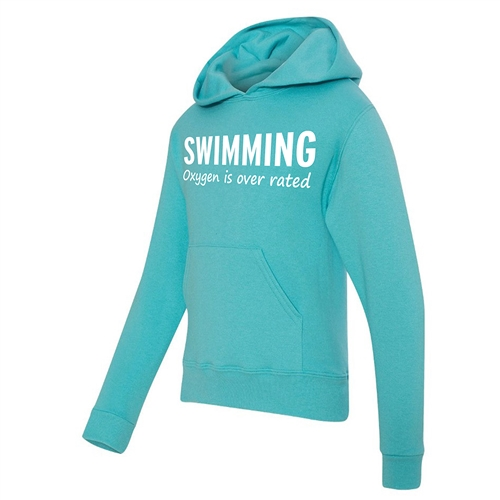 Swimming Hoodie - Oxygen is Overrated - Athletic Sweatshirt for Men & Women