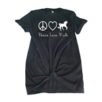 Equestrian Tee Shirt - Peace Love Ride - For Teen Equestrians