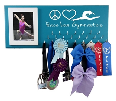 gymnastics medal holder gymnast ribbons awards trophy hanger