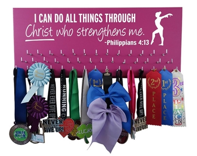 gymnastics gymnast equipment ribbons awards medals display Philippians