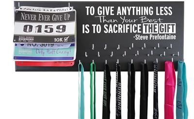 Prefontaine to give anything less than your best is to sacrifice the gift medal holder hanger display