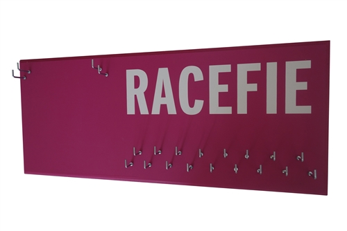 Racefie race bib and medal holder
