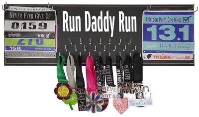 Running medals holder - run daddy run