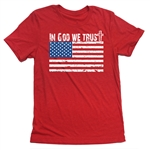 In God We Trust T-Shirt - Everyday American Flag Tee - for All Patriots who Love Our Country - America First
