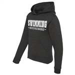 Swimming Hoodie - Never Settle For Less Than Your Best - Athletic Sweatshirt for Men & Women