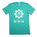 Yoga Tee - Om Shanti Shanti Shanti - For Men & Women