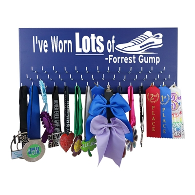 I've Worn Lots of Shoes - Forrest Gump-  race medal display rack