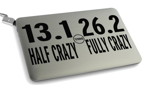 13.1 and 26.2 running sticker